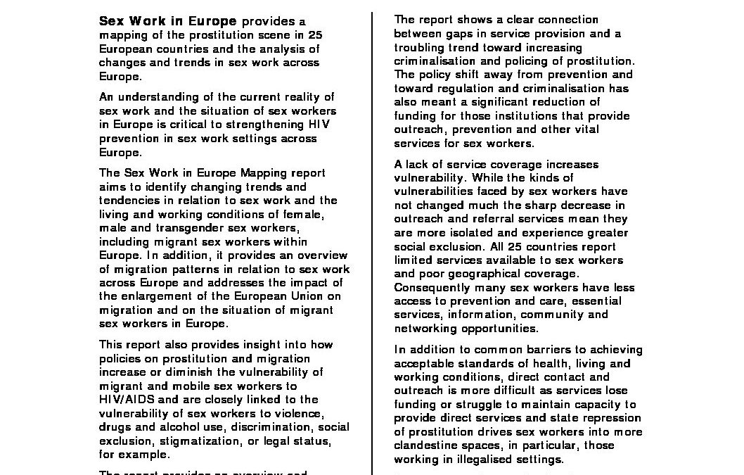 2009: Annex 1 Recommendations