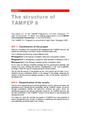 2007: Annex 2 TAMPEP Structure