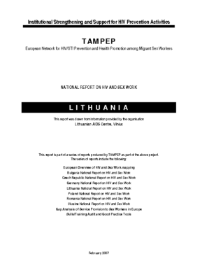 2007: Lithuania National Report on HIV and Sex Work
