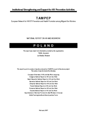 2007: Poland National Report on HIV and Sex Work