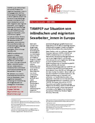 TAMPEP paper GER.de