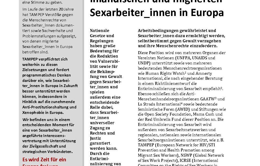 2015: TAMPEP paper GER.de