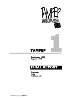 1994: TAMPEP I Final Report
