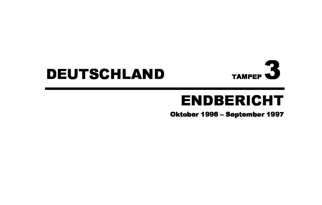 1997: TAMPEP3_Deutschland_final_report_1997