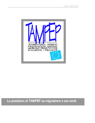 2001: Position paper on Migration & Sex Workers (IT)