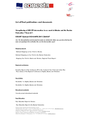 List of final publications