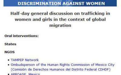 TAMPEP Network takes the floor in Geneva. TAMPEP considers migrant sex workers t…