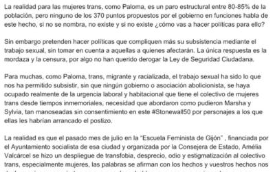 Comunicado Paloma