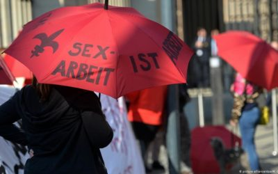 Demonstrators protest against the sex purchase prohibition in Hamburg