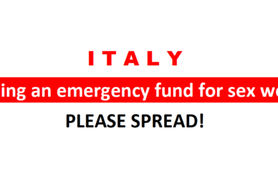 "Italian campaign for the emergency fund page of ""No-one left behind! COVID19-Solidarity with the sex workers most affected by the Covid19 emergency"