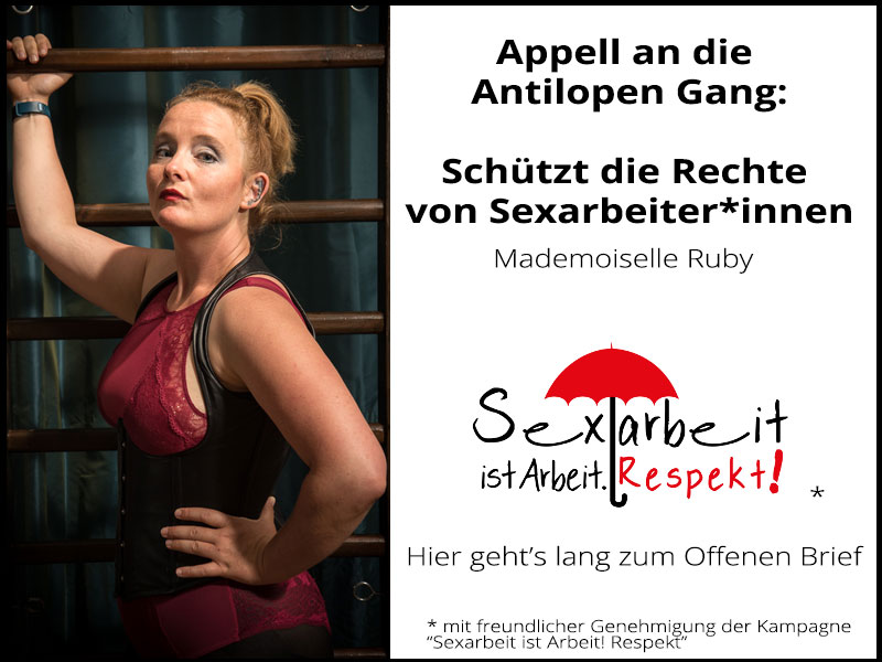 Sex Workers appeal to german Hiphop-band Antilopen Gang to respect and value rights of Sex Workers and Urge Support from Allies